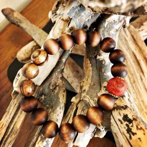 Holz, Koralle, Vintage