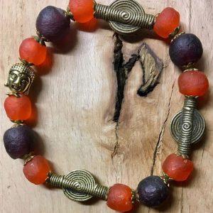 Buddha, Erdfarben, Messing, Afrika